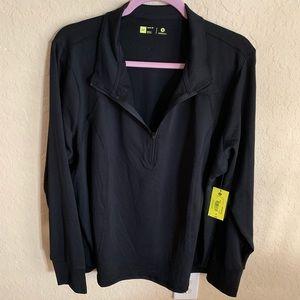 Xersion black warm up jacket, size 2X, NWT